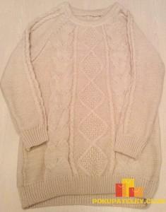 свитер с вязкой женский